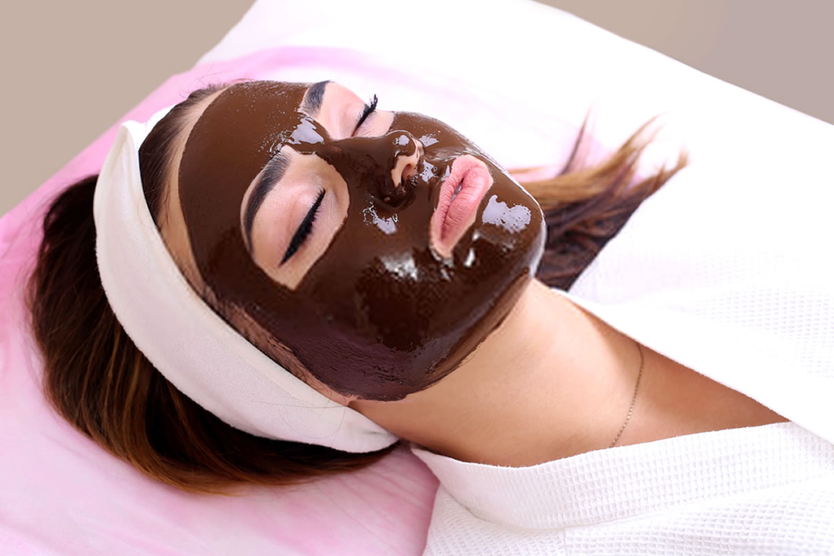 mascara facial de chocolate