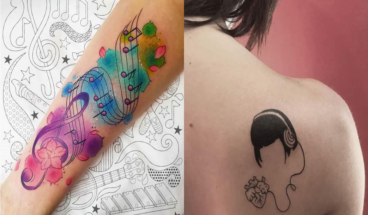 inspiracao de tatuagens musicais para mulheres